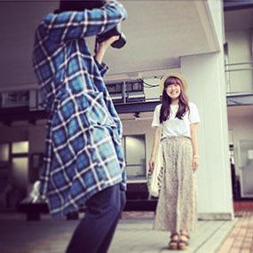 ファッション雑誌「mer」ファッションスナップ会