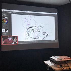 ビジュアルデザイン科 3年生 ディズニーアニメーションスタジオの研修を受講するの巻