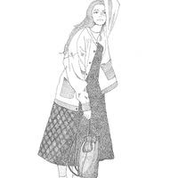 ファッションデザイン科 デザイン表現「点描画」に挑戦