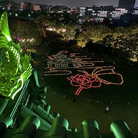 夏の烏城灯源郷2020 灯りのアート報告